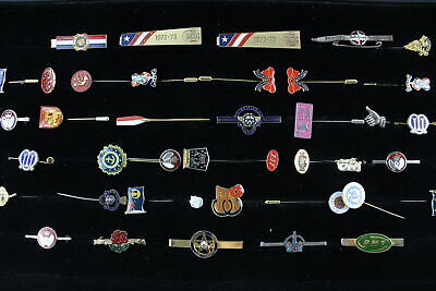 40 x Vintage GENTS ACCESSORIES Inc. Tie Clips, Lapel Pins, Enamel, Masonic Etc