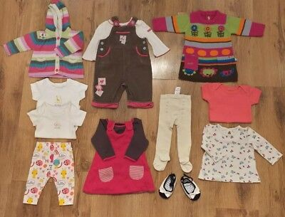 🌈🎀M&S And Mothercare Baby Girl Bundle: Age 0-3 Months Save & Combine Postage🎀