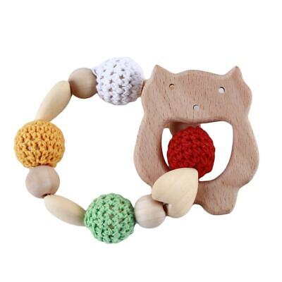 Natural Wood Teething Ring Baby Nursiing Chewable Teether Jewelry Making DD