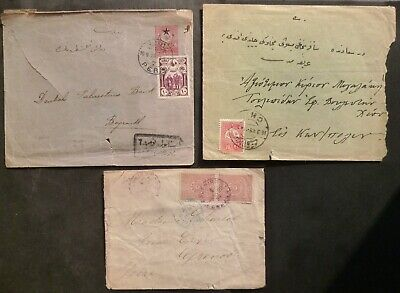 Turkey Ottoman stamp covers, Chios,Pera,Salonique