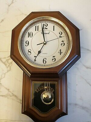 Antique Telesonic Regulator A Pendulum Wall Clock Arabic Numeral on Clock Face