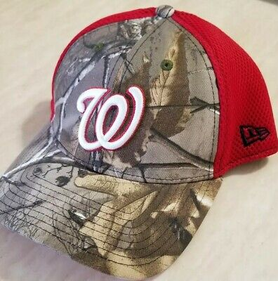 the latest 0ee3a 235ad Washington Nationals New Era 39THIRTY Flex Hat - Realtree Camo Red MLB S M