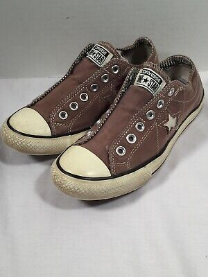 d02a5c76ac7924 Converse One Star Brown Ox Canvas Laceless Slip On Low Sneakers Size 8