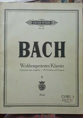 Bach Well-Tempered Clavier Piano Complete Music Book 48 Preludes & Fugues Peters