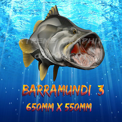 BARRAMUNDI DECAL LEFT&RIGHT 280mm x 250mm BOAT / CAR / TRUCK