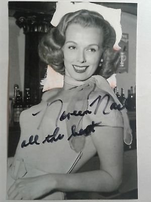 Noreen Nash Authentic Hand Signed Autograph 4X6 Photo -1950's Famous Actress