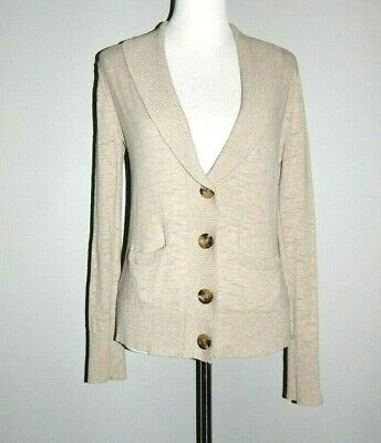 Mossimo Supply Co Size Large Long Sleeve Button Front Tan Cardigan Sweater 99f343078