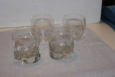 Set Of 2 REMY MARTIN Collectible Etched Stemless Cognac +2 DRAMBUIE GLASSES