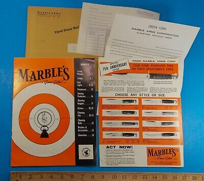 1970S Marbles Catalog Insert And Order Forms In Original Envelope Stidham