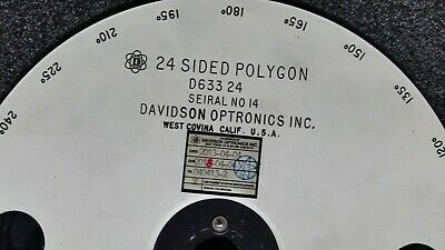 Davidson Optronics Inc. D633-24 15 Degree, 24 side optical polygon mirror.