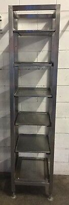Commercial Pub Bar Restaurant Stainless 6 Tier Storage Rack For Glasses