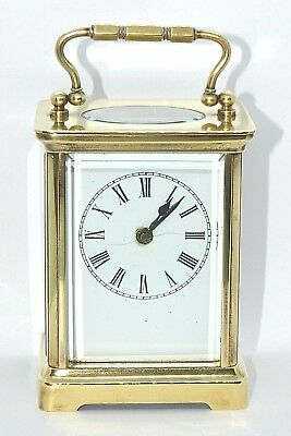 A.C.C Antique French made carriage clock. Brass. Running.