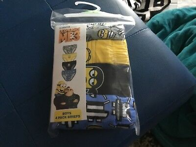 MINIONS 4pk boys briefs size 3/4 New!
