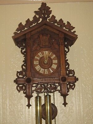 Antique Cuckoo Clock ,Bahnhausle, circa 1880 by Philipp Haas
