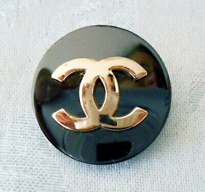 Chanel Gunmetal Gray Button ~ Couture Button ~ Pre-Owned