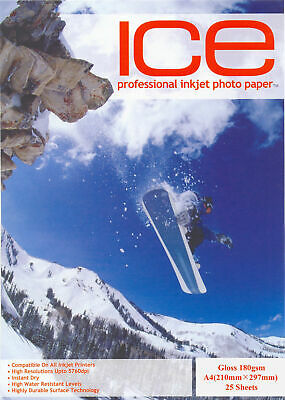 A4 Inkjet Photo Paper Ice Professional 180Gsm, 260Gsm, Gloss