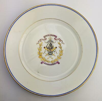 LIOMGES FRENCH ARCHERY SOCIETY PORCELAIN PLATE DUNKIRK c1900
