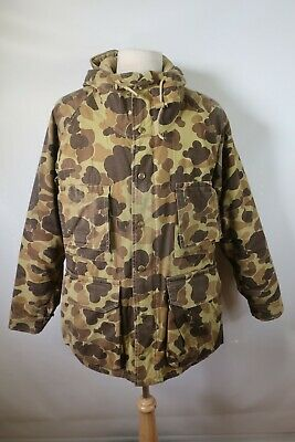 D09666 VTG COLUMBIA Gore-Tex Camouflage Hooded Hunting Parka Jacket Size M