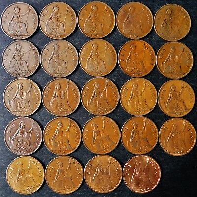 ONE ONLY UK Penny, You Choose the Date(s), 1861 - 1967 All Dates Not Available