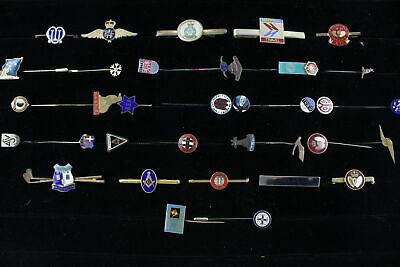 36 x Vintage GENTS ACCESSORIES Inc. Tie Clips, Lapel Pins, Enamel, Masonic Etc