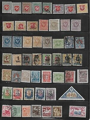 LITHUANIA 1919-37 LOT of 60 stamps, MH + USED; NOT INDIVIDUALLY IDENTIFIED