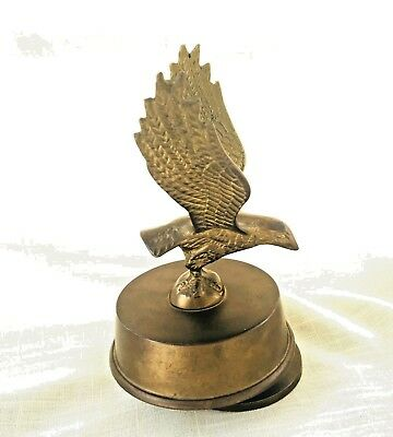 "Vintage Rotating Brass Bird/Eagle/Falcon Music Box - Plays ""Born Free"""