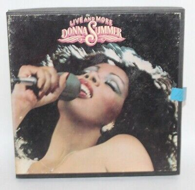 Vtg REEL TO REEL Tape In Box DONNA SUMMER Live And More