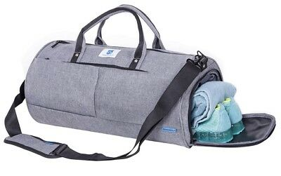 Gym Duffle Bag Sports Weekend Travel Carryon Luggage With Shoe Compartment d365a70b00a39