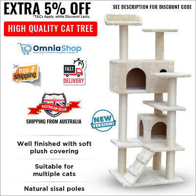 Cat Scratching Tower Scratch Tree House Furniture Pole Gym Post Kitten Large New