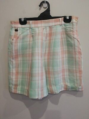 Women's designer original LACOSTE cool retro 80's 90's Check Shorts size 44 14