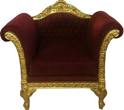 casa padrino barock lounge sessel bordeaux gold mobel antik stil mobel