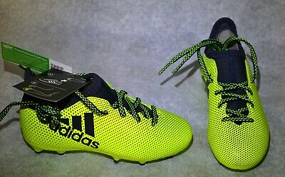 Adidas X 17.3 FG J Unisex Kids Junior Soccer Shoes S82369 Solar Yellow Size  11k 76e8867cdd