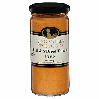 King Valley Fine Foods Chilli & Tomato Pesto 240g