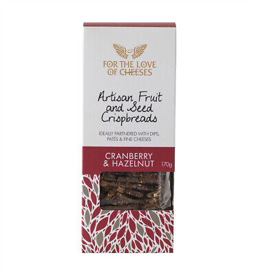 For the Love of Cheeses Cranberry and Hazelnut Crispbreads 170g