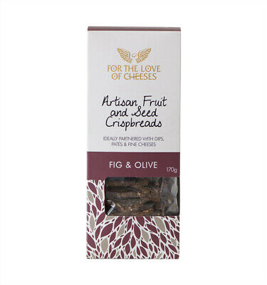 For the Love of Cheeses Fig and Olive Crispbreads 170g