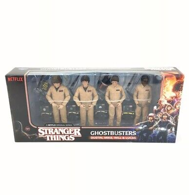 """STRANGER THINGS GHOSTBUSTER's Costume 6"""" Figures Mike Will Dustin Lucas SET of 4"""