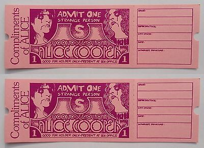 2 Alice Cooper GOOD TO SEE YOU AGAIN Complimentary Movie Admission Tickets - NEW