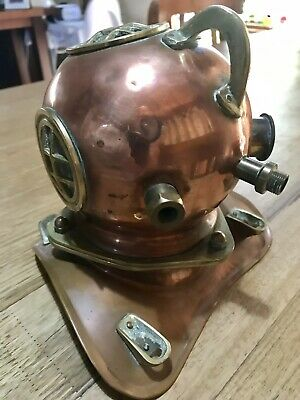 Pure Brass Diving Helmet. Ornamental. Half Size. See Pics.