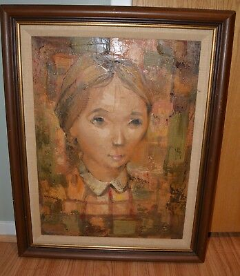 Raymond Howell African American Artist Original Oil On Board Framed