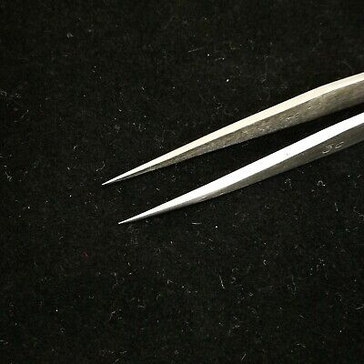 Super Fine Tips Stainless Tweezers 110mm Beading Jewellery Finding Craft Tools