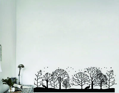 0332 Woods Tree Nature Wall Sticker Decal Home Room Removable Mural Art Decor