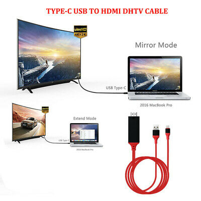 Type-C USB-C 3.1 to HDMI HDTV 4K Cable Adapter For Samsung Galaxy S9 S8 Note 9 8