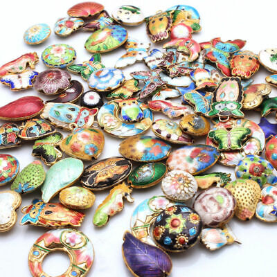 1Pcs Mixed Color Cloisonne Enamel Spacer loose Beads Pendant  Jewelry Making