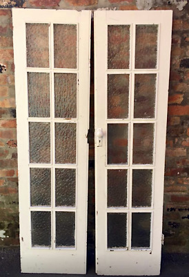 Pair Timber Glass Art Deco Internal French Doors Heritage Double 1930s 1920s Use