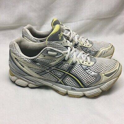 52f7030c53b Asics Gel 1150 Duo Max Womens Size 7.5 Running Shoes White/Silver/Yellow