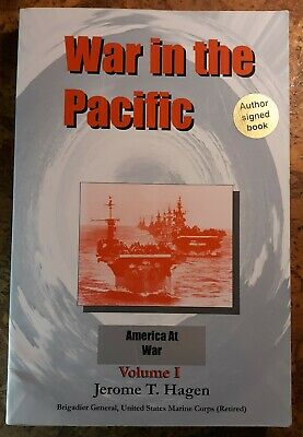 SIGNED USMC General Jerome Hagen WAR IN THE PACIFIC vol.1  softcover vgc+ WWII