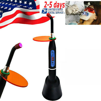 Dental Wireless Cordless LED Curing Light Lamp 10W 1500MW+Goggle Glasses for UV