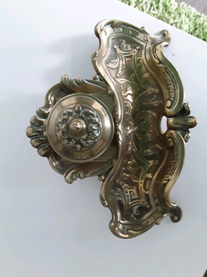 Art noveau brass ink stand antique. 1890 to 1910