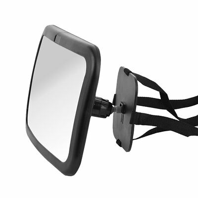 Baby Car Seat Mirror For Broader View 360° Pivot Adjustable Straps Practical