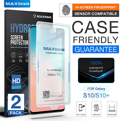 2x CASE FRIENDLY HYDROGEL Screen Protector for Samsung Galaxy S10 Plus + S9 Plus